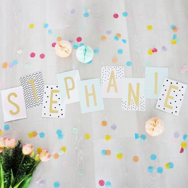 "Glitzer Postkarten Set ""Stephanie"""