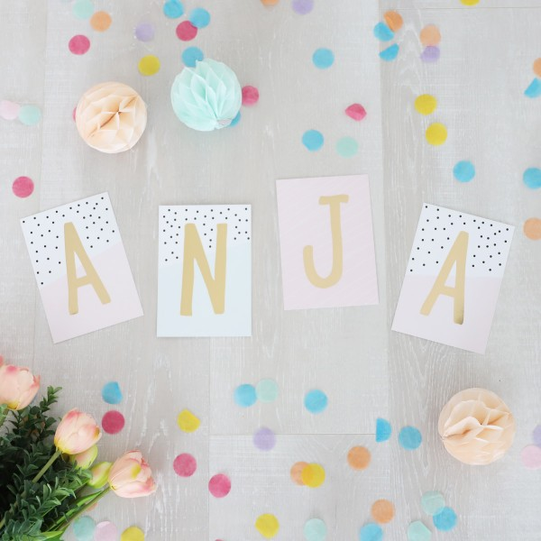"""Glitzer Postkarten Set """"Anja"""""""