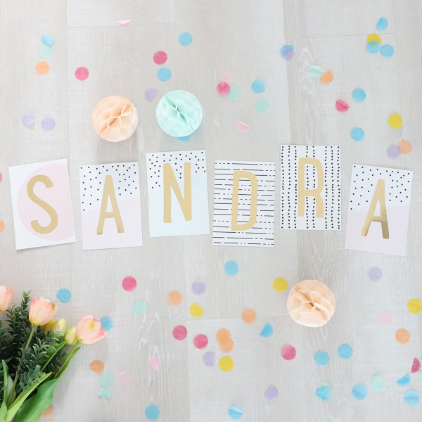 """Glitzer Postkarten Set """"Sandra"""""""