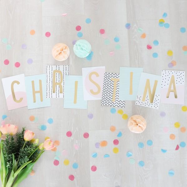 """Glitzer Postkarten Set """"Christina"""""""
