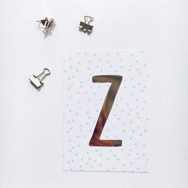 """Postkarte """"Z"""""""