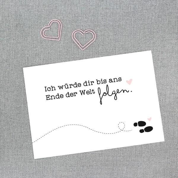 """Postkarte """"Bis ans Ende der Welt"""""""