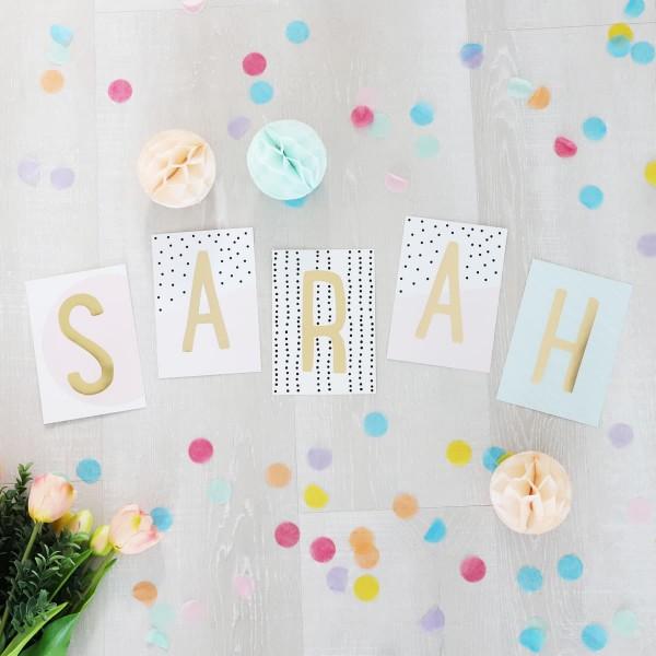 """Glitzer Postkarten Set """"Sarah"""""""