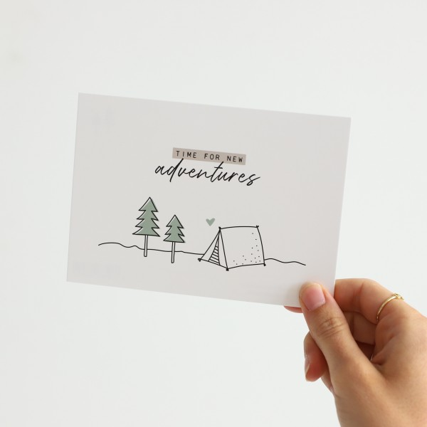 "Postkarte ""New adventures"""
