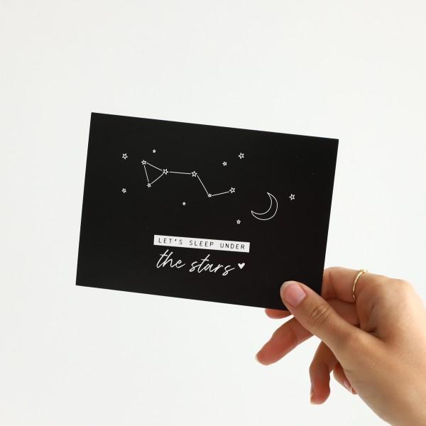 "Postkarte ""Under the stars"""