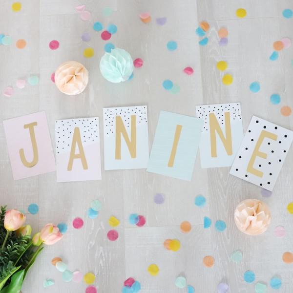 """Glitzer Postkarten Set """"Janine"""""""