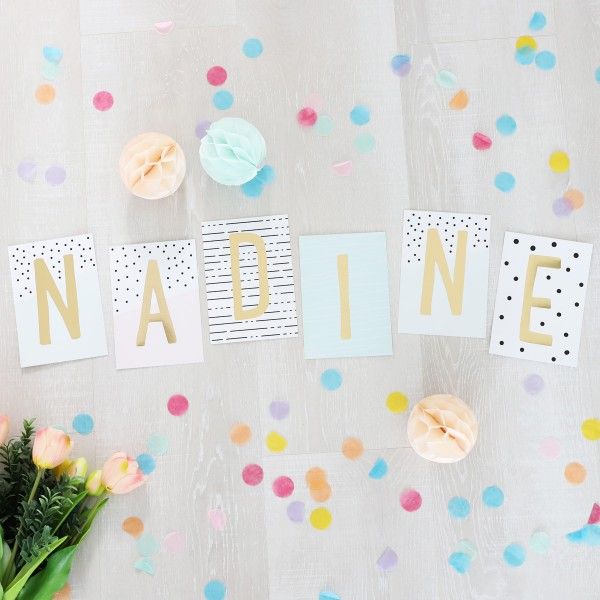 """Glitzer Postkarten Set """"Nadine"""""""