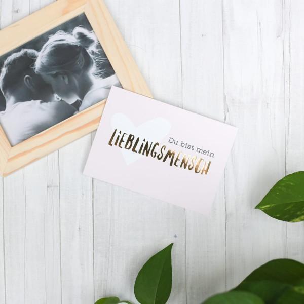 """Postkarte """"Lieblingsmensch"""""""