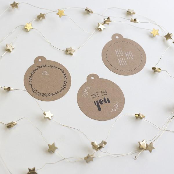 Weihnachtliche Geschenkanhänger (Kraftpapier)