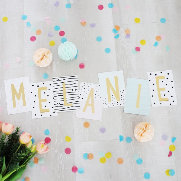 """Glitzer Postkarten Set """"Melanie"""""""