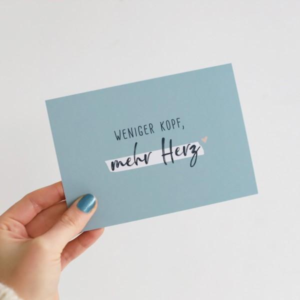 """Postkarte """"Mehr Herz"""""""