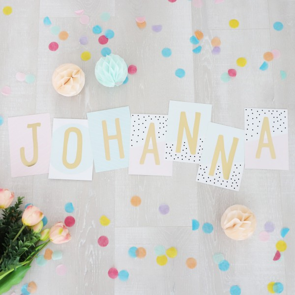 """Glitzer Postkarten Set """"Johanna"""""""