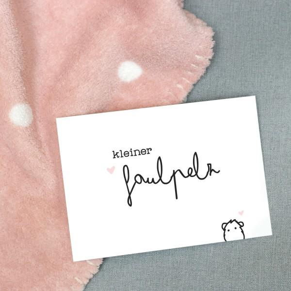 """Postkarte """"Kleiner Faulpelz"""""""