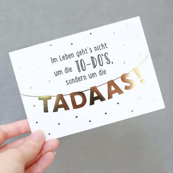 "Glitzer-Postkarte ""TADA"""
