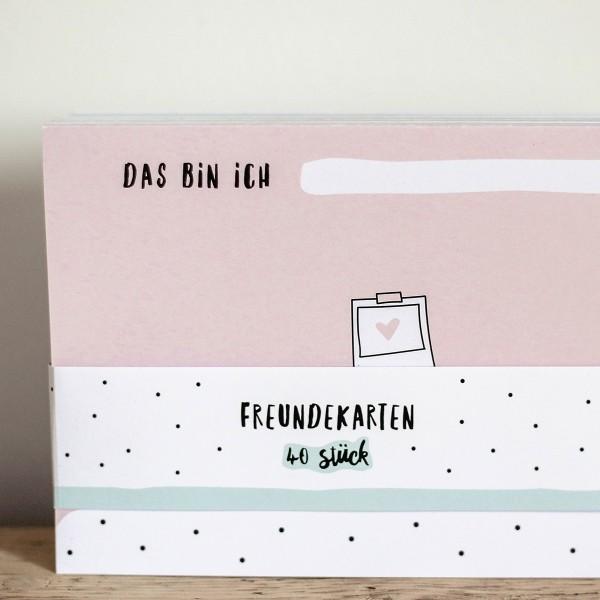 Freundschaftskarten zum Nachfüllen