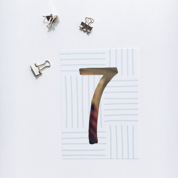 """Postkarte """"7"""""""
