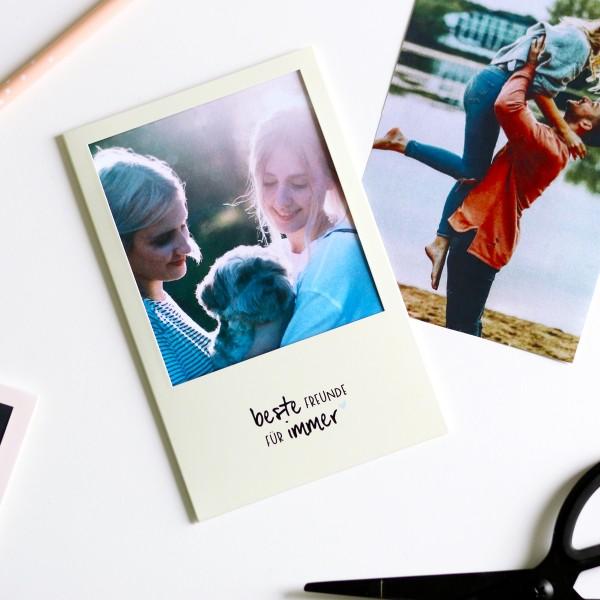 """Cutout-Postkarte """"Beste Freunde für immer"""""""