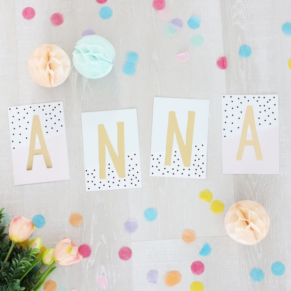 """Glitzer Postkarten Set """"Anna"""""""