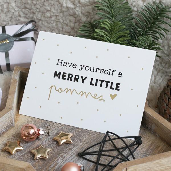 """Postkarte """"Merry little pommes"""""""