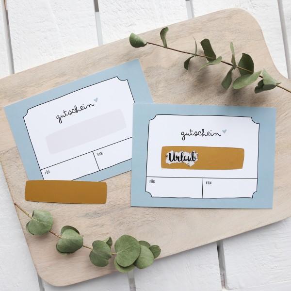 """Postkarte zum Freirubbeln """"Geschenk"""""""