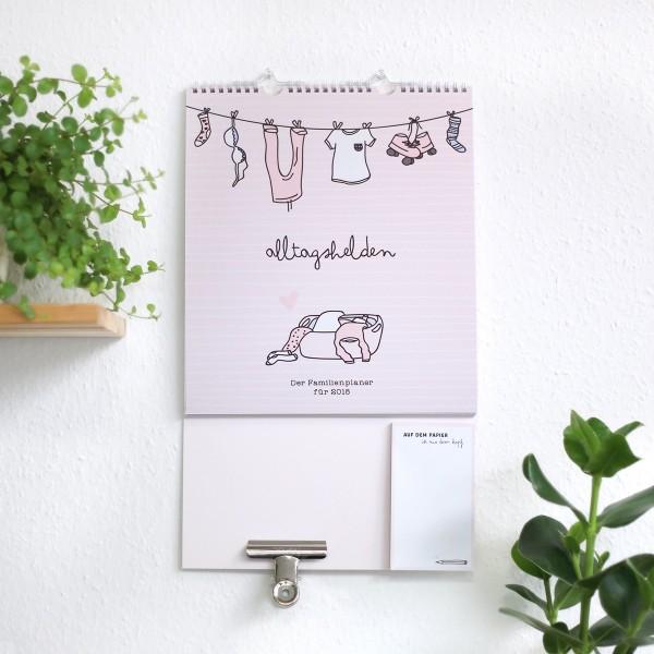 Familienwandkalender 2018 inkl. Dokumentenclip