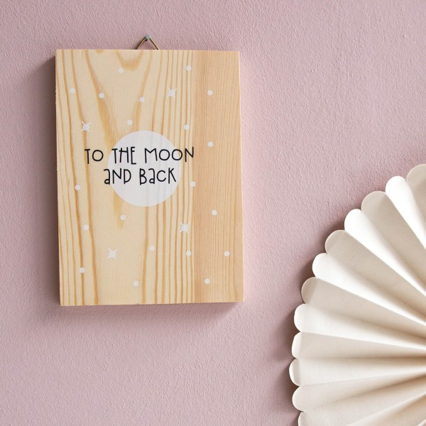 "Holzprint ""To the moon and back"""