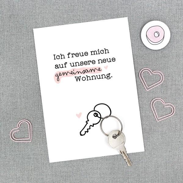 """Postkarte """"Gemeinsame Wohnung"""""""