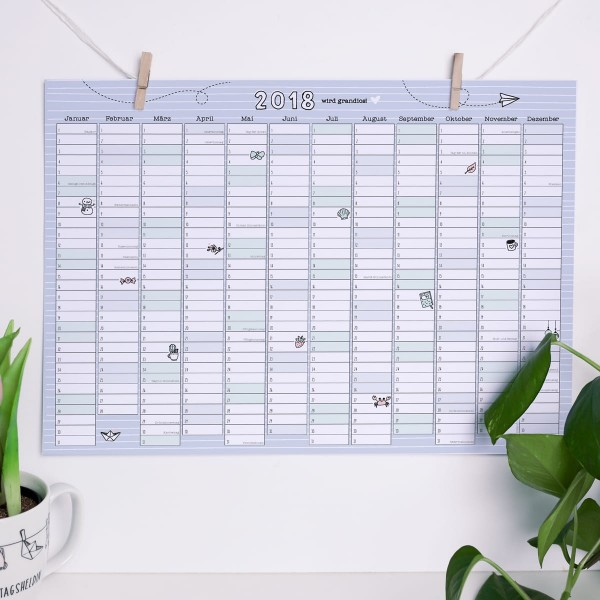 """Kalenderposter A3 """"2018 wird grandios"""""""