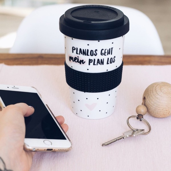 """Coffee-To-Go-Becher """"Planlos geht mein Plan los"""""""