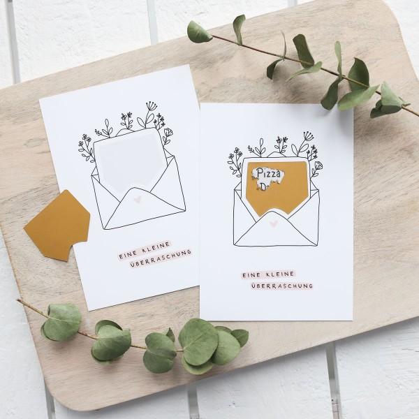 """Postkarte zum Freirubbeln """"Überraschung"""""""