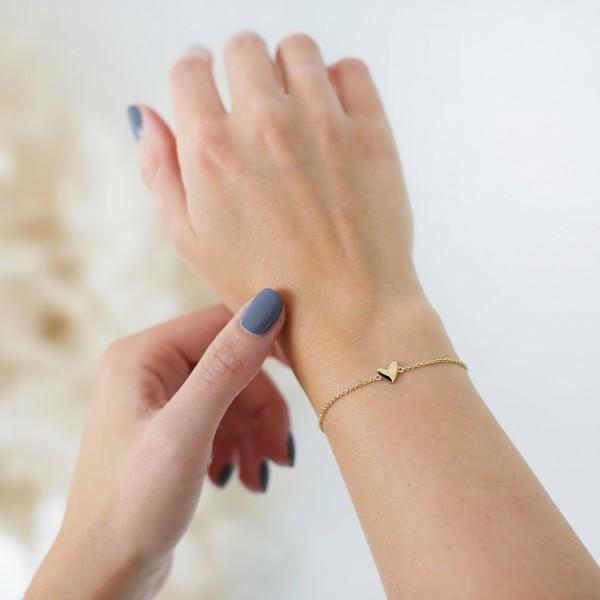 """Basis-Armband """"Herz"""" gold"""