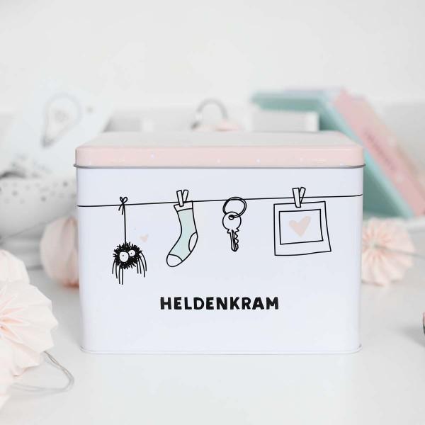 """Aufbewahrungsbox """"Heldenkram"""""""