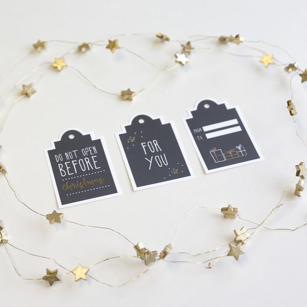 Weihnachtliche Geschenkanhänger (dunkel)