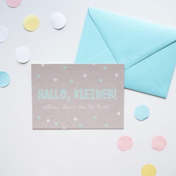 Hallo, Kleiner! - Postkarte mit Umschlag