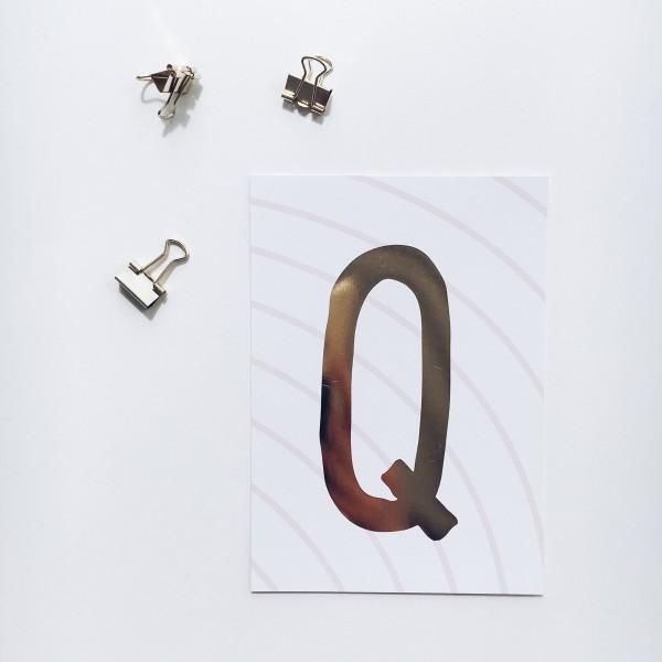 """Postkarte """"Q"""""""