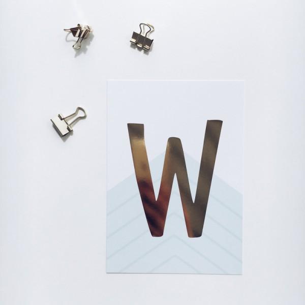 "Postkarte ""W"""