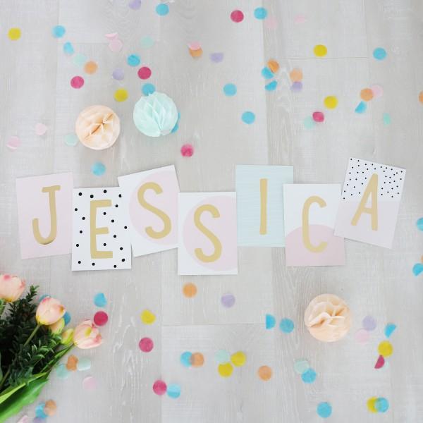"""Glitzer Postkarten Set """"Jessica"""""""