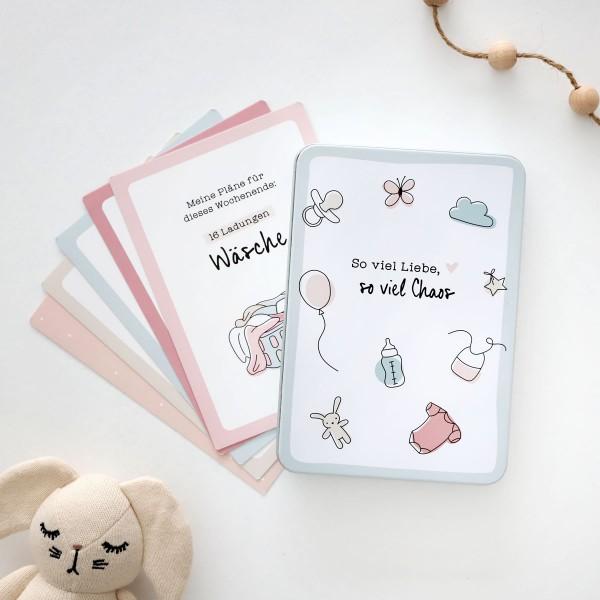 """Meilensteinkarten für Eltern """"Liebe & Chaos"""""""