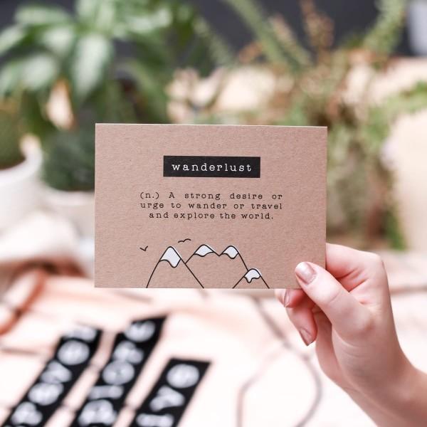 "Postkarte Kraftpapier ""Wanderlust"""