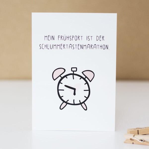 """Postkarte """"Schlummertastenmarathon"""""""