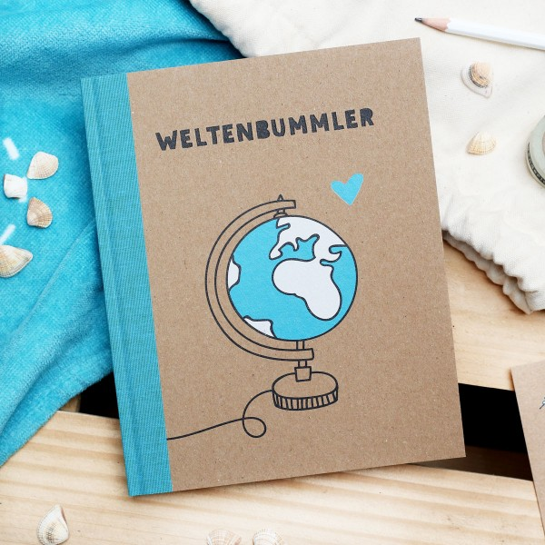 """Notizbuch """"Weltenbummler"""""""