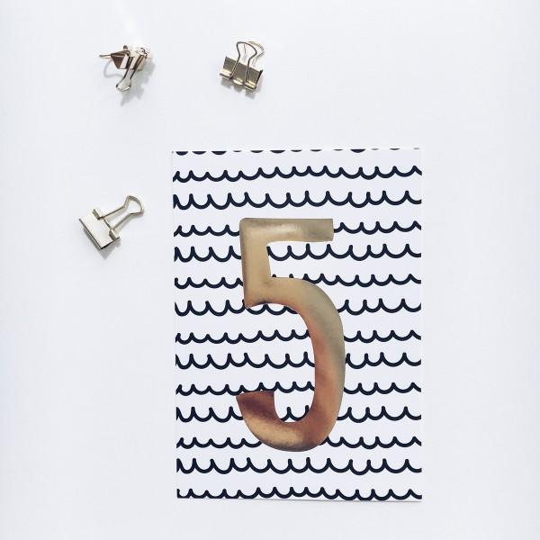 """Postkarte """"5"""""""