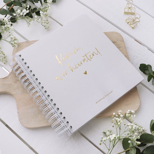 "Wedding Planner grau ""Komm, wir heiraten"""