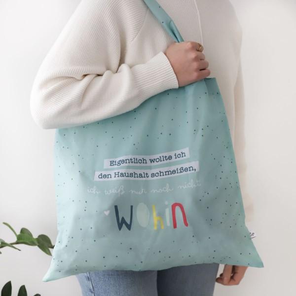"""Faltbare Einkaufstasche """"Haushalt schmeißen"""""""