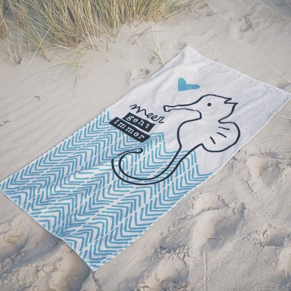 "Handtuch ""Meer geht immer"""