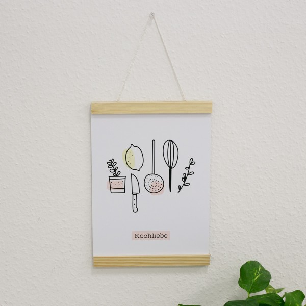 "Poster A4 ""Kochliebe"""