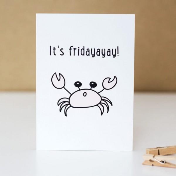 "Postkarte ""It`s fridayayay!"""