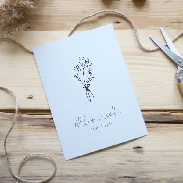 "Maxi-Postkarte ""Alles Liebe für dich"""