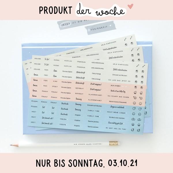 """Sticker für Kalender 3er-Set """"Beste Zeit"""""""
