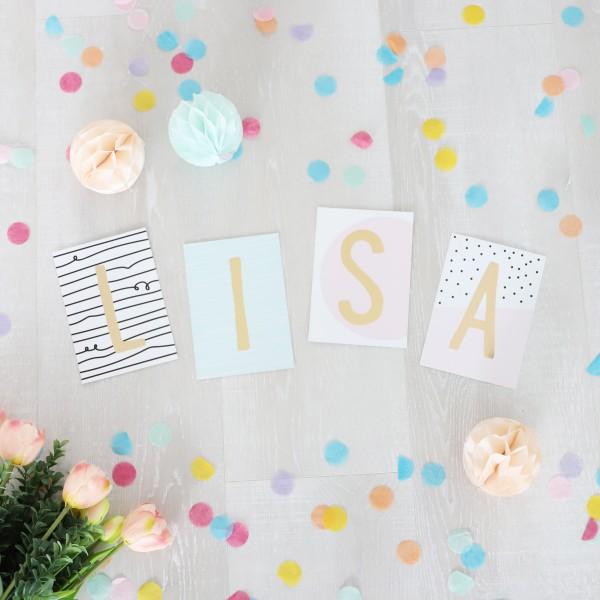 """Glitzer Postkarten Set """"Lisa"""""""